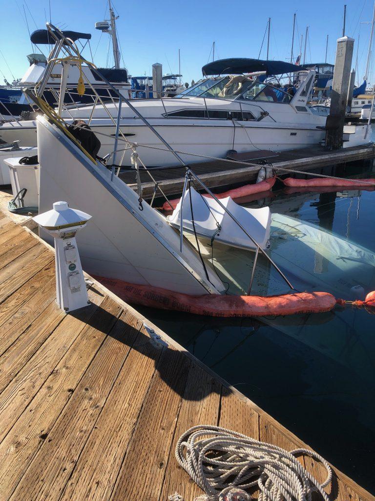Boat Sinks at dock