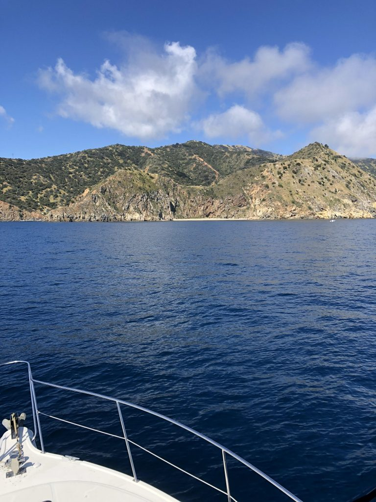 Arriving at Catalina Island Anchorage