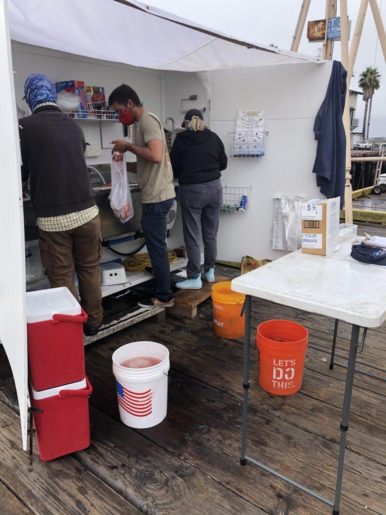 Fish preparation center