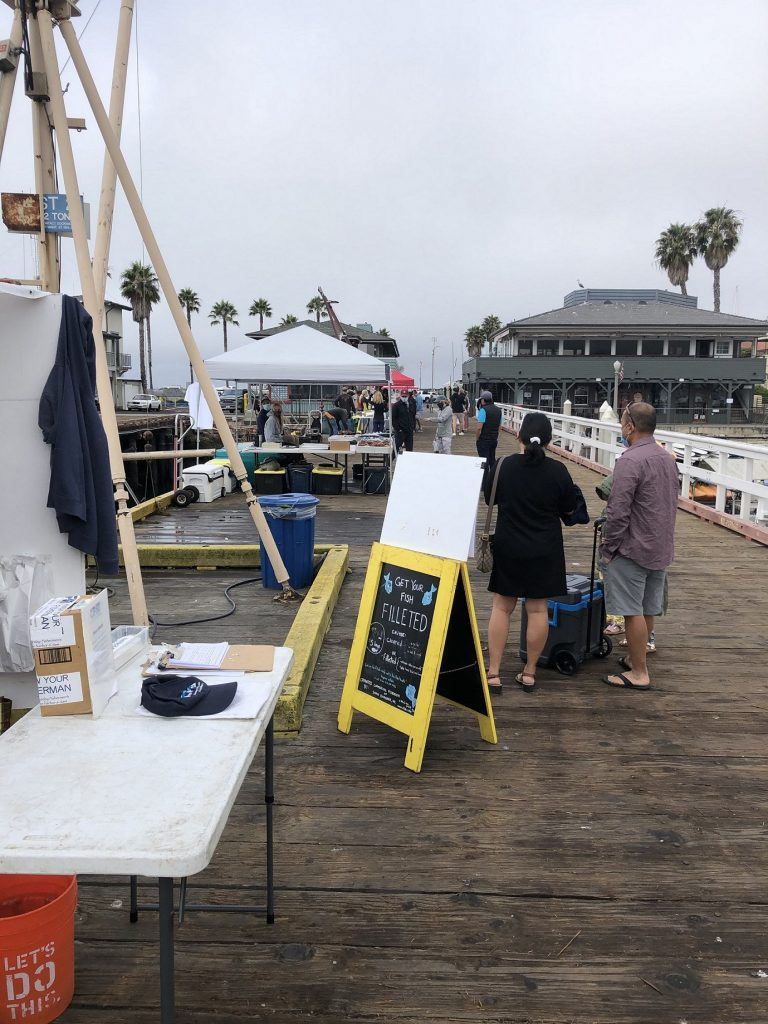 Fish mongers on the pier