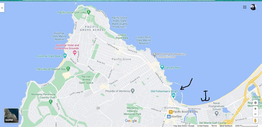 Monterey Harbor and Anchorage