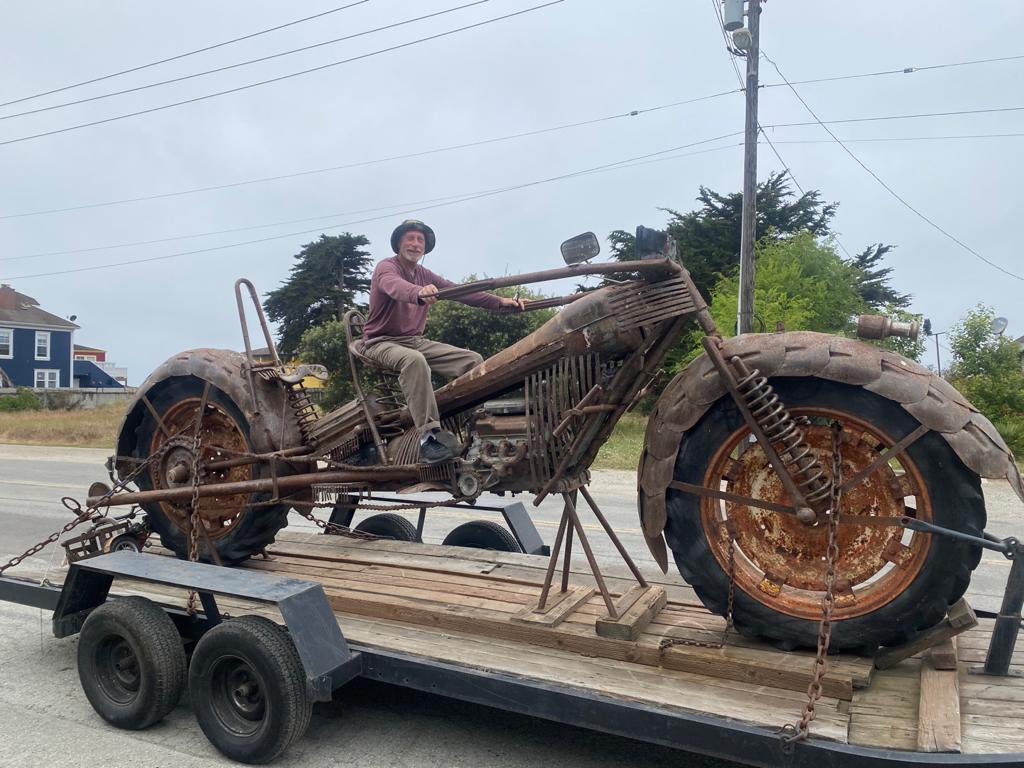 Moss Landing Giant Motorcycle